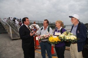 Acting Premier welcomes people aboard