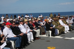 Front row At Sea Service
