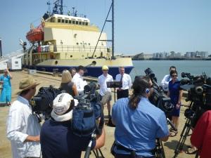 media conf on Sea Horse Spirit Dec 2009