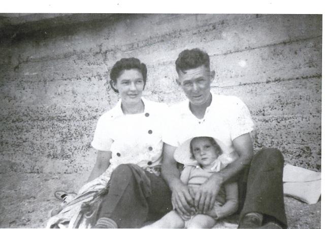 Cronulla Beach 1943 Fred, Elsie and Pammy